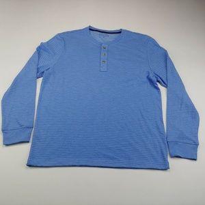 Club Room Men's Sweater Blue Striped Long Sleeve